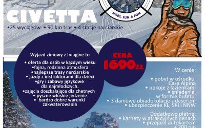 Obóz narciarsko-językowy – DOLOMITY, ZIMA 2019 , FERIE 25.01- 03.02